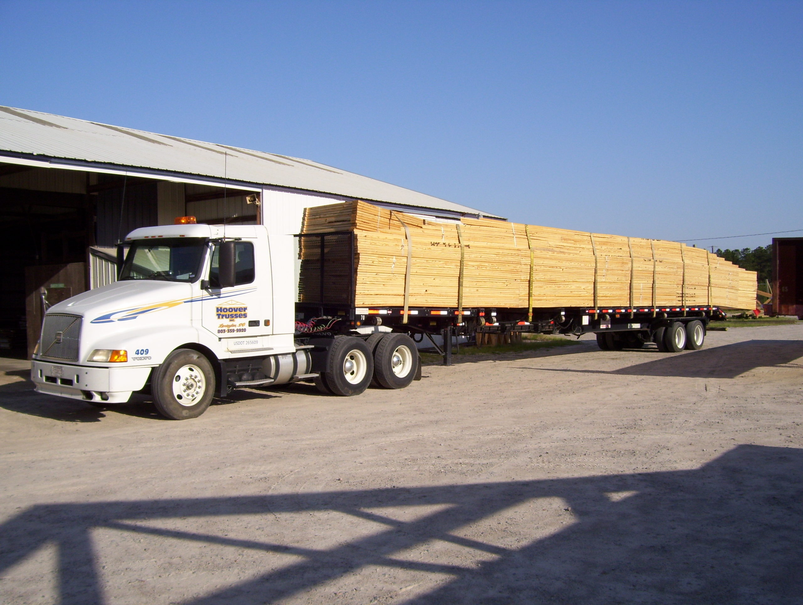 Roof and Floor Trusses on a Truck